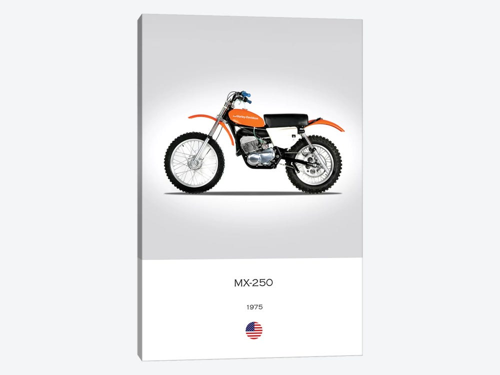 1975 Harley-Davidson MX-250 Motorcycle by Mark Rogan 1-piece Canvas Print