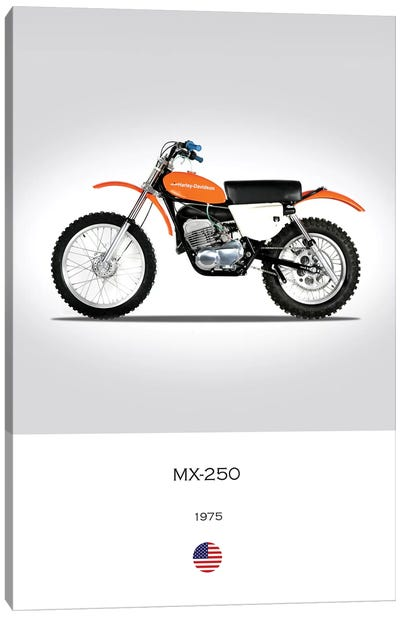 1975 Harley-Davidson MX-250 Motorcycle Canvas Art Print