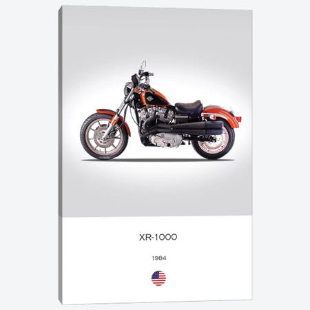 1984 Harley-Davidson XR-1000 Motorcycle Canvas Print #RGN335} by Mark Rogan Canvas Print