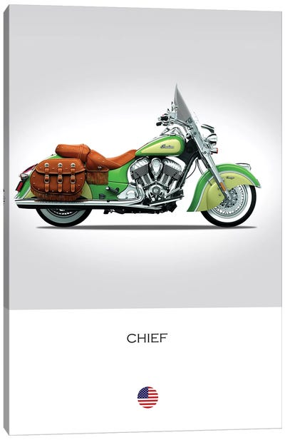 2015 Indian Chief Vintage Motorcycle Canvas Art Print