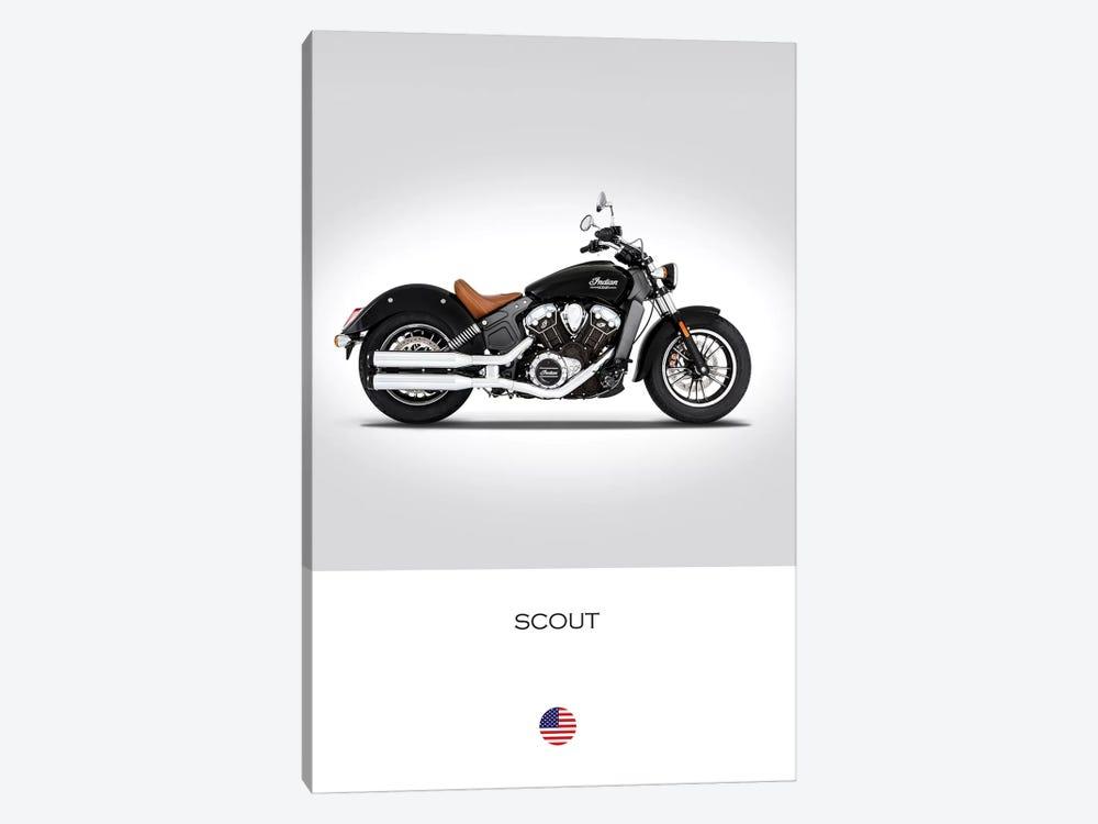 2016 Indian Scout Motorcycle by Mark Rogan 1-piece Canvas Art Print