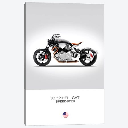 Confederate X132 Hellcat Speedster Canvas Print #RGN338} by Mark Rogan Canvas Wall Art