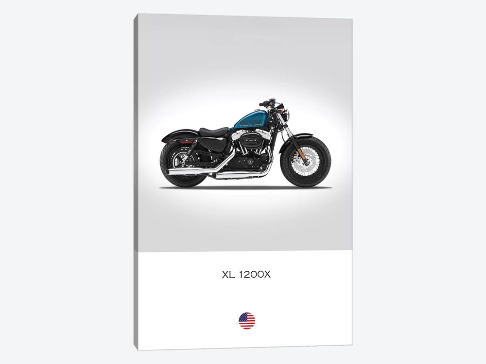 Harley Davidson XL 1200X Forty-Eight Motorcycle by Mark Rogan 1-piece Canvas Print