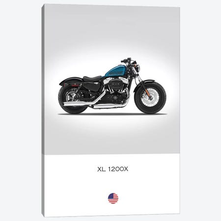 Harley Davidson XL 1200X Forty-Eight Motorcycle Canvas Print #RGN339} by Mark Rogan Canvas Wall Art