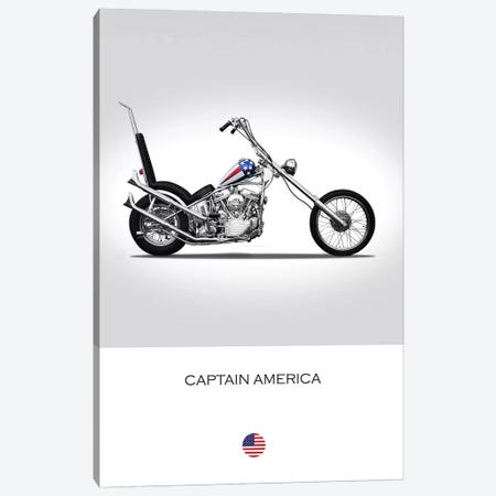 Harley-Davidson Captain America Easy Rider Tribute Motorcycle Canvas Print #RGN340} by Mark Rogan Canvas Art Print