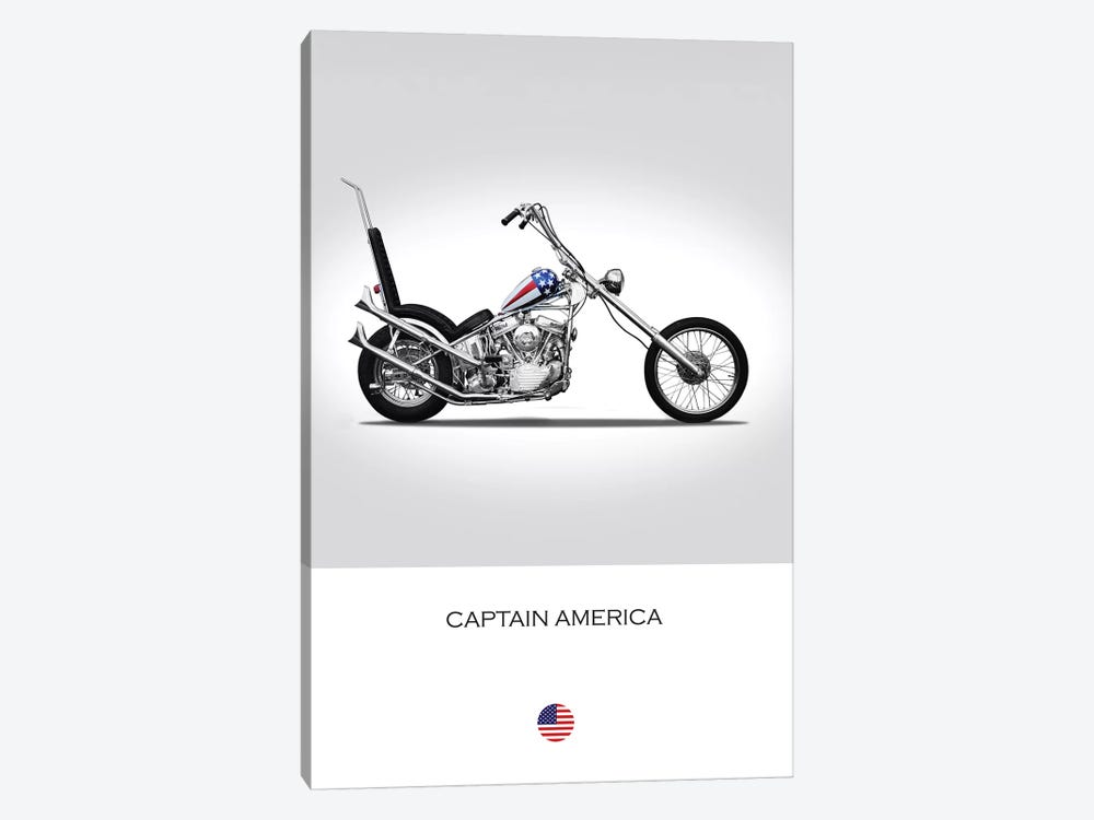 Harley-Davidson Captain America Easy Rider Tribute Motorcycle by Mark Rogan 1-piece Art Print