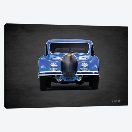 1936 Bugatti Type 57 Canvas Print #RGN352} by Mark Rogan Canvas Wall Art