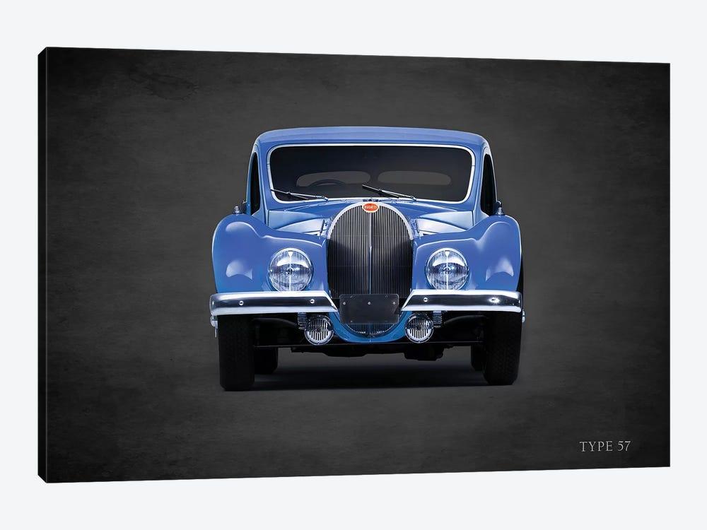 1936 Bugatti Type 57 by Mark Rogan 1-piece Canvas Wall Art
