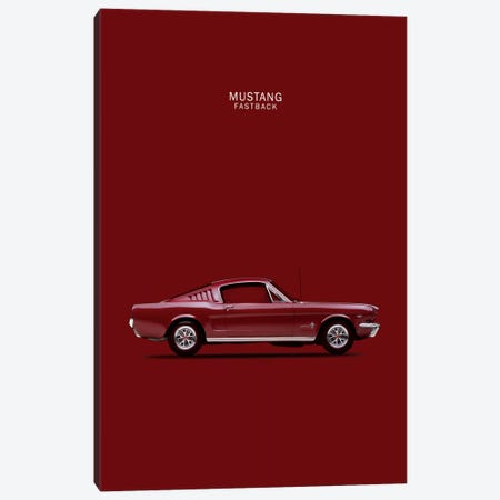 1965 Ford Mustang Fastback Canvas Print #RGN35} by Mark Rogan Canvas Wall Art