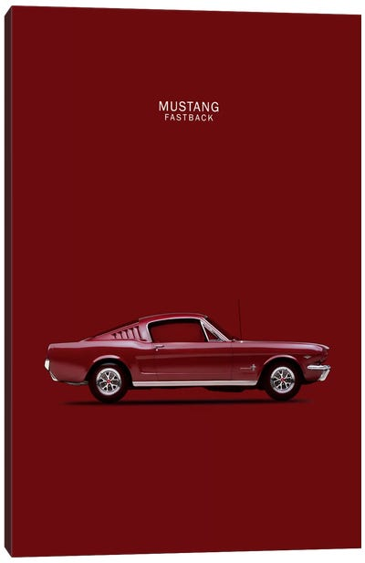 1965 Ford Mustang Fastback Canvas Art Print
