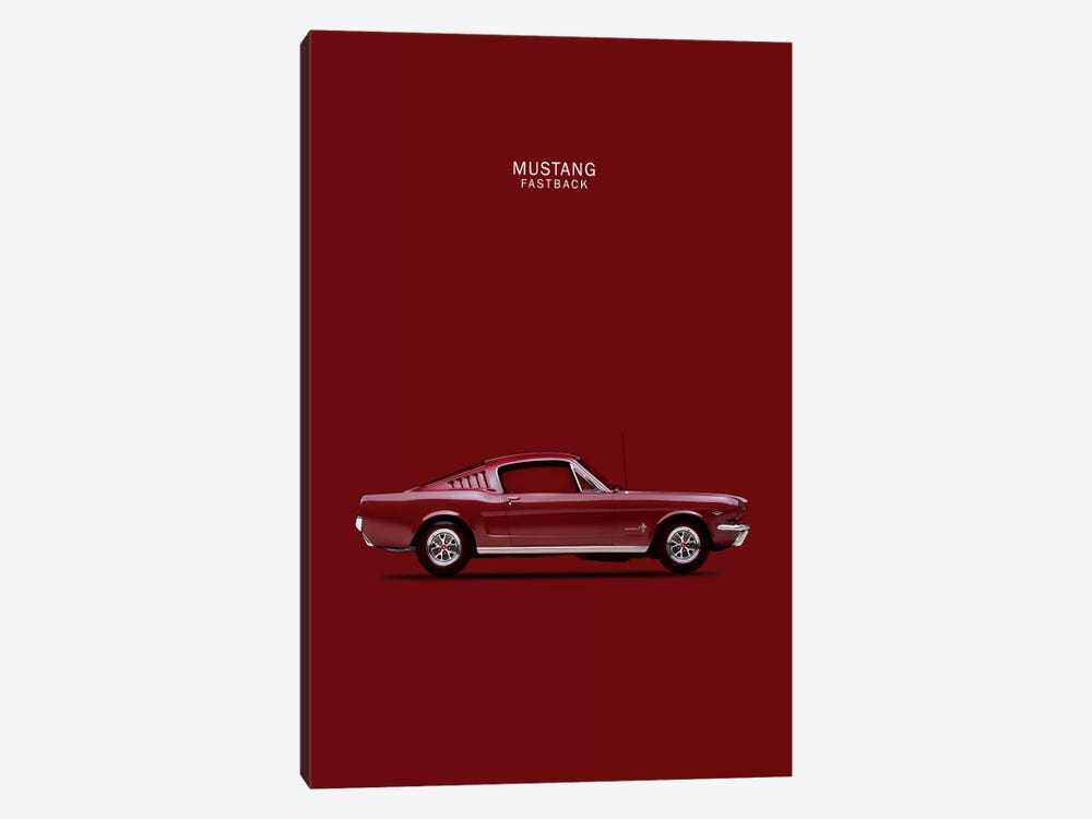 1965 Ford Mustang Fastback by Mark Rogan 1-piece Canvas Artwork