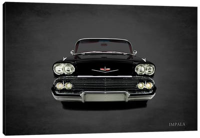 1958 Chevrolet Impala Canvas Art Print