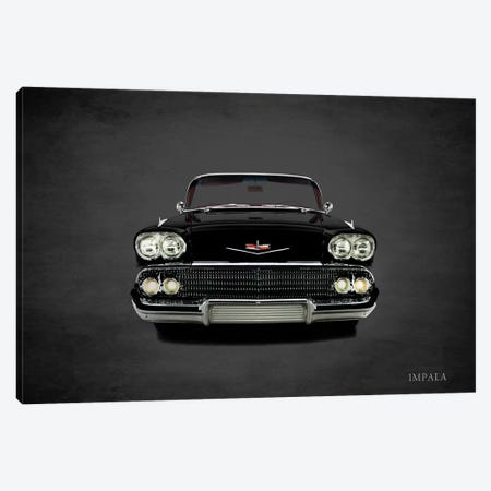 1958 Chevrolet Impala 3-Piece Canvas #RGN362} by Mark Rogan Canvas Art Print