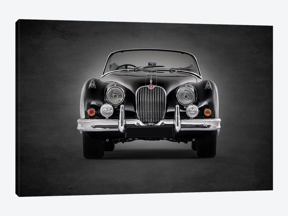 1958 Jaguar XK150 by Mark Rogan 1-piece Canvas Wall Art