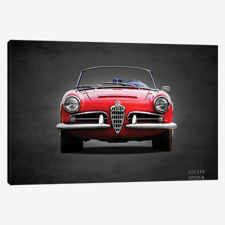 1964 D247Alfa Giulia 1600 Spider Canvas Print #RGN366} by Mark Rogan Canvas Wall Art