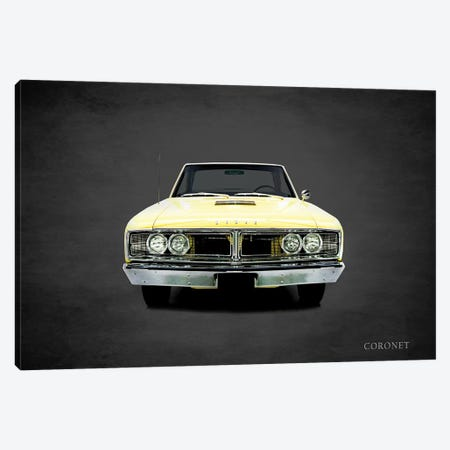 1966 Dodge Coronet 3-Piece Canvas #RGN369} by Mark Rogan Canvas Print