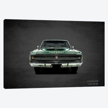 1967 Dodge Charger 426 Hemi Canvas Print #RGN371} by Mark Rogan Canvas Art