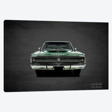 1967 Dodge Charger 426 Hemi Canvas Print #RGN371} by Mark Rogan Canvas Art