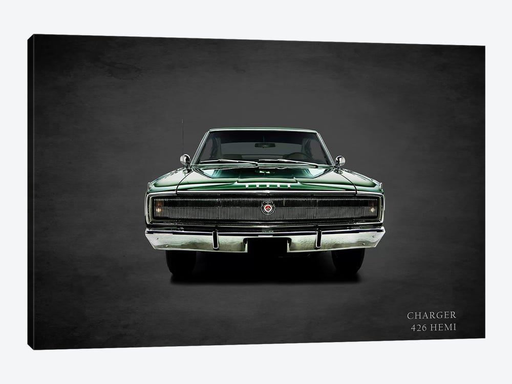 1967 Dodge Charger 426 Hemi by Mark Rogan 1-piece Art Print