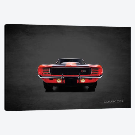 1969 Chevrolet Camaro Z28 Canvas Print #RGN372} by Mark Rogan Canvas Art