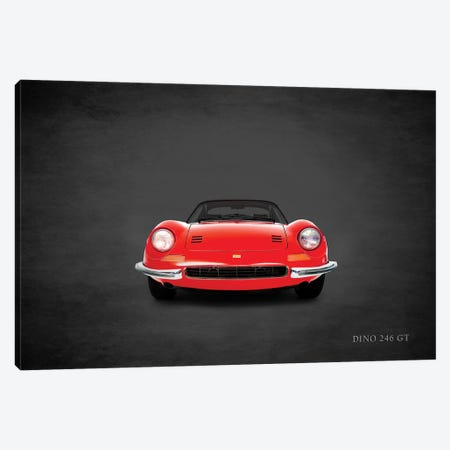 1969 Ferrari Dino 246 GT Canvas Print #RGN374} by Mark Rogan Art Print