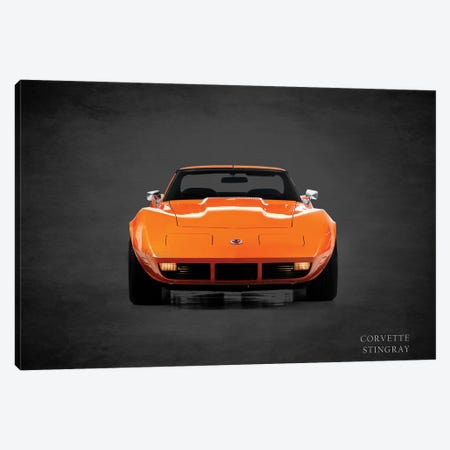 1974 Chevrolet Corvette Stingray Canvas Print #RGN376} by Mark Rogan Art Print