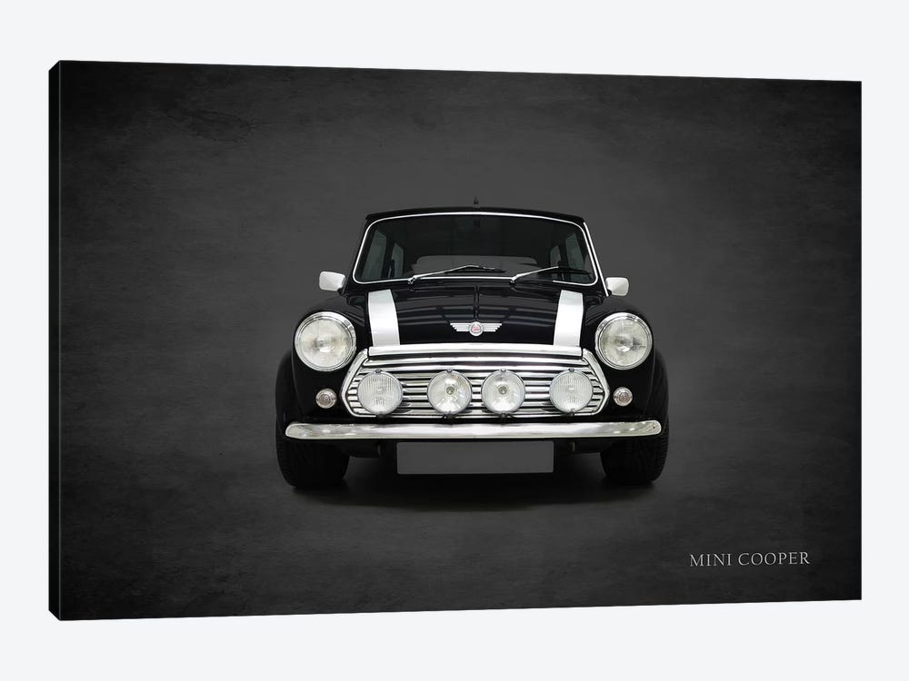 2001 Mini Cooper by Mark Rogan 1-piece Canvas Art Print