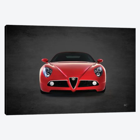 2008 Alfa Romeo 8C 3-Piece Canvas #RGN380} by Mark Rogan Art Print