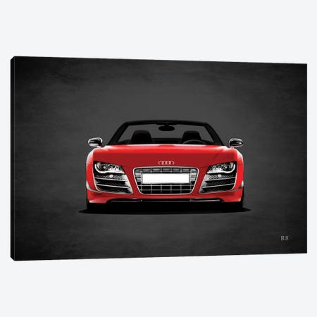 Audi R8 3-Piece Canvas #RGN382} by Mark Rogan Canvas Art Print