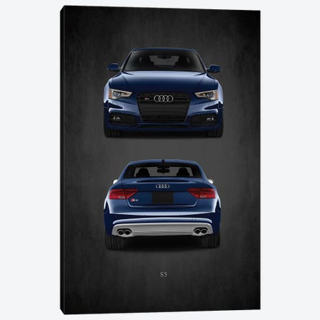 Audi S5 3-Piece Canvas #RGN383} by Mark Rogan Art Print