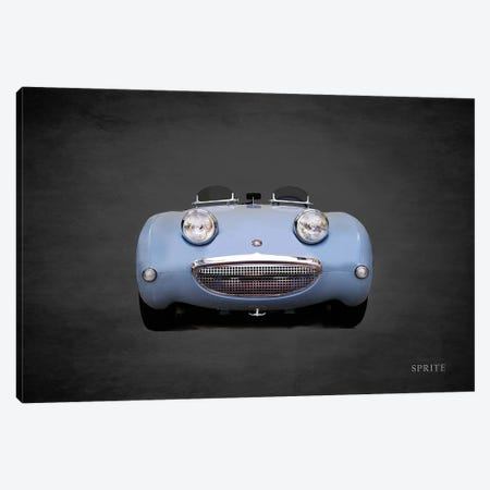 Austin-Healey Sprite Mk1 Canvas Print #RGN384} by Mark Rogan Canvas Artwork