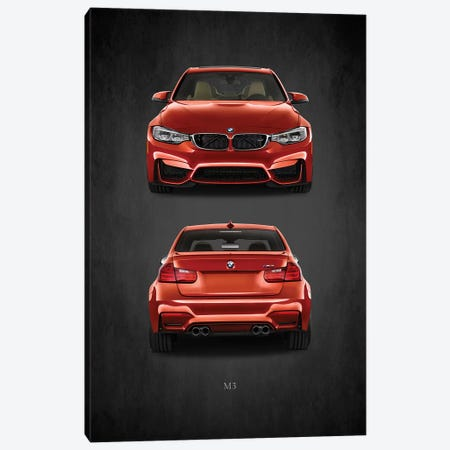 BMW M3 Canvas Print #RGN387} by Mark Rogan Canvas Wall Art