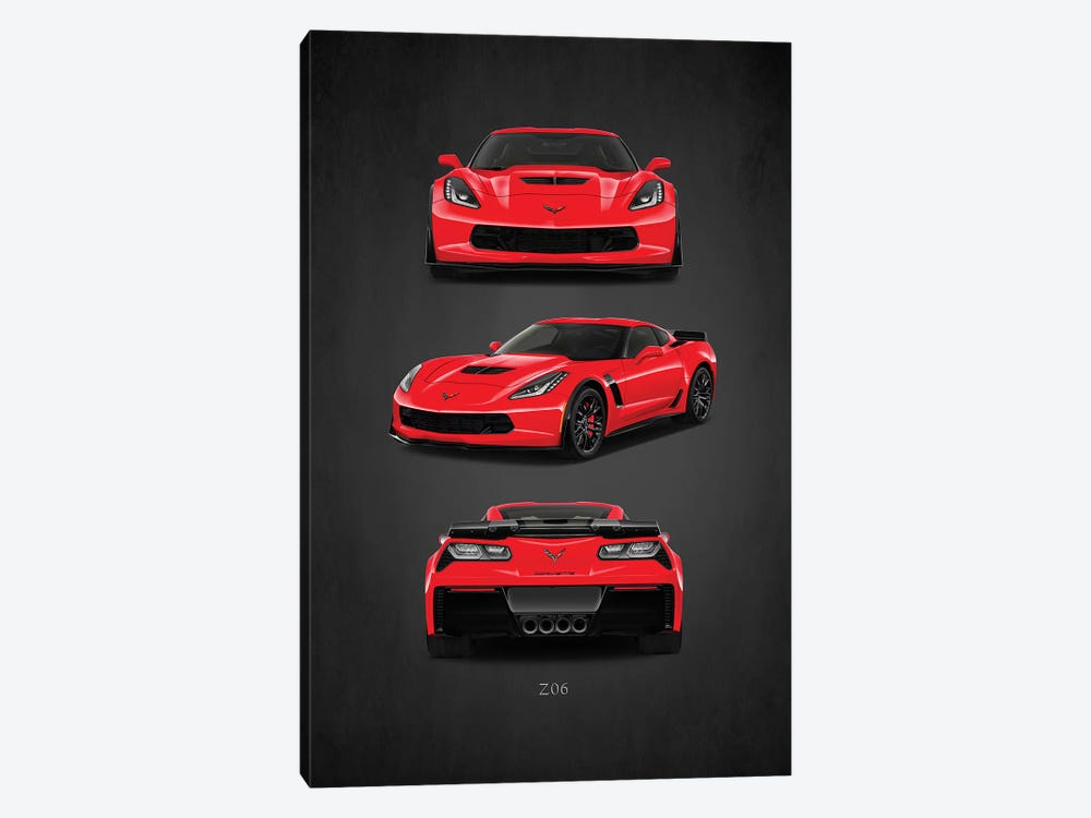 Chevrolet Corvette Z06 by Mark Rogan 1-piece Art Print