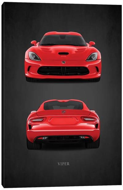 Dodge Viper Red Canvas Art Print