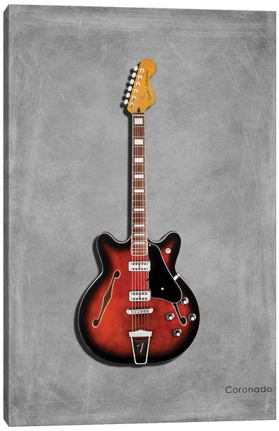 Fender Coronado Canvas Art Print