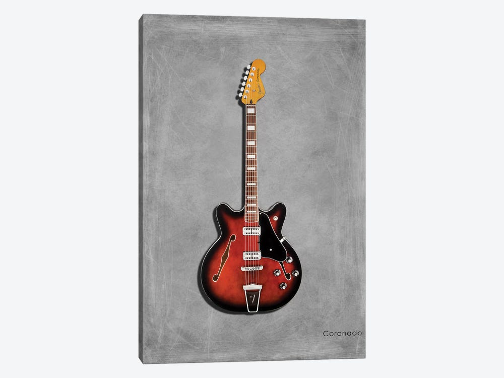 Fender Coronado by Mark Rogan 1-piece Canvas Art Print