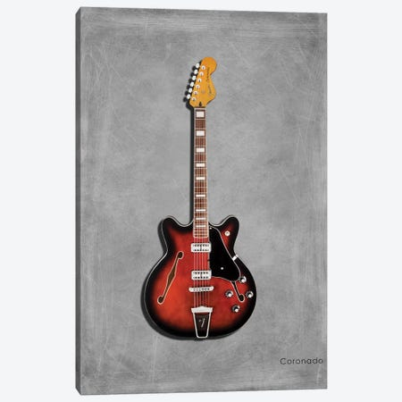 Fender Coronado Canvas Print #RGN397} by Mark Rogan Canvas Art Print