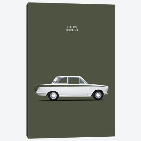 1966 Ford Cortina Lotus Mark I 3-Piece Canvas #RGN39} by Mark Rogan Art Print