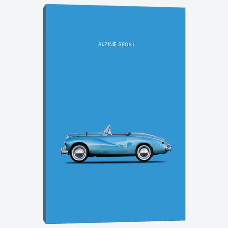 1953 Sunbeam Alpine Sport Canvas Print #RGN3} by Mark Rogan Canvas Artwork