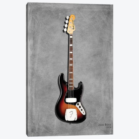 Fender Jazz Bass '74 Canvas Print #RGN401} by Mark Rogan Canvas Wall Art