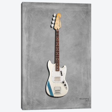 Fender Mustang Bass Canvas Print #RGN403} by Mark Rogan Canvas Artwork