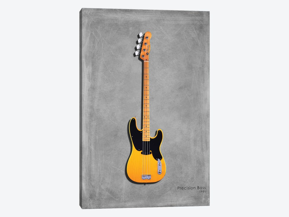 Fender Precision Bass '51 by Mark Rogan 1-piece Canvas Artwork