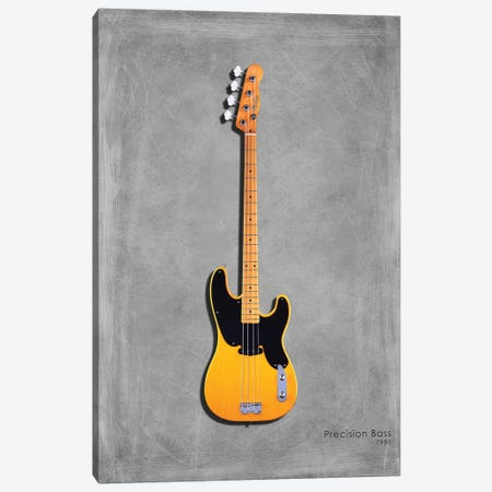 Fender Precision Bass '51 3-Piece Canvas #RGN404} by Mark Rogan Canvas Print