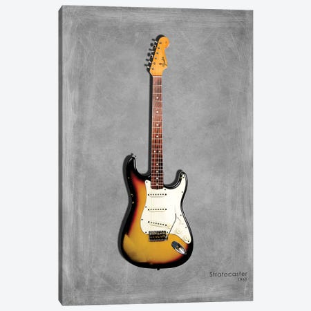 Fender Stratocaster '65 3-Piece Canvas #RGN412} by Mark Rogan Canvas Art Print