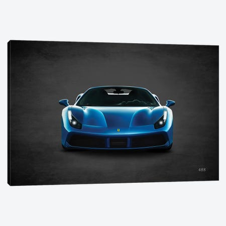 Ferrari 488 Canvas Print #RGN417} by Mark Rogan Canvas Artwork