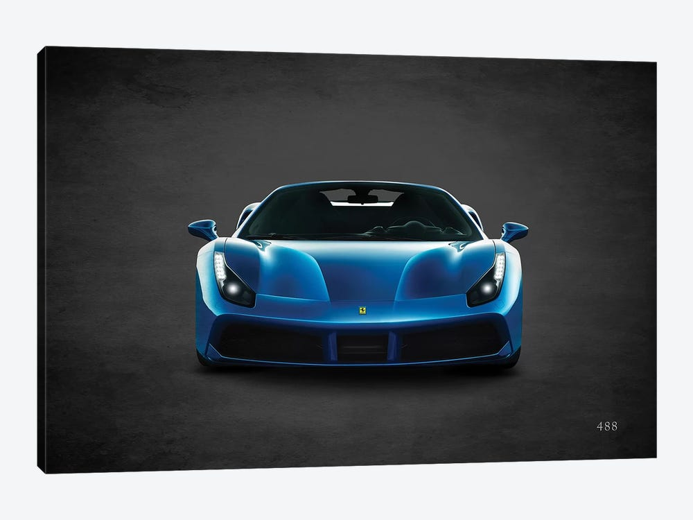Ferrari 488 by Mark Rogan 1-piece Canvas Artwork