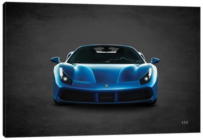 Ferrari 488 Canvas Art Print