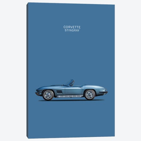 1967 Chevrolet Corvette Stingray Canvas Print #RGN41} by Mark Rogan Canvas Art