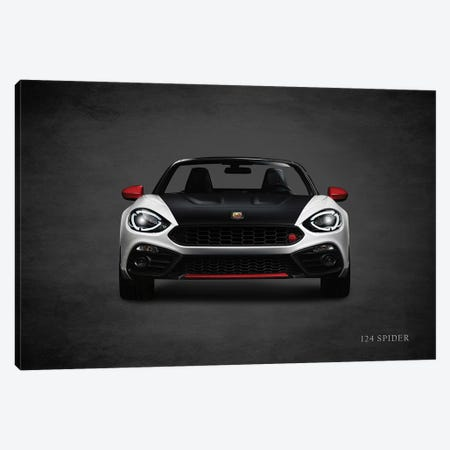 Fiat 124 Spider Canvas Print #RGN422} by Mark Rogan Canvas Art