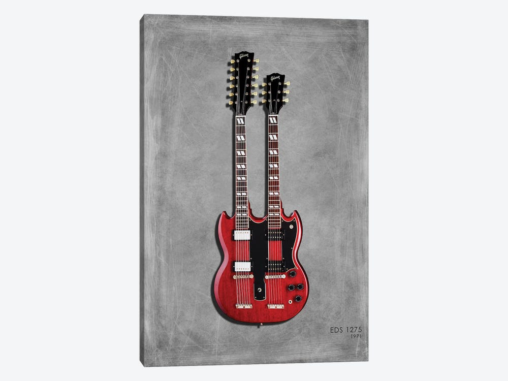 Gibson EDS1275 '71 by Mark Rogan 1-piece Canvas Print